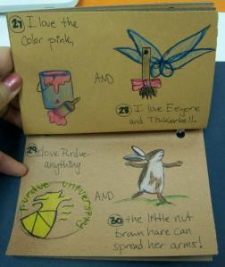 """Two pages from the """"30 Things I Love You More Than"""" book I made my husband for his 30th birthday."""