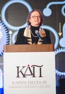 Dr. Mary Clement speaking at KDP Convo 2013 in Dallas, Texas