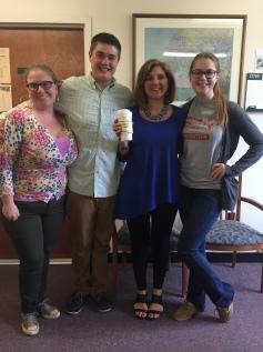 Pictured: Corinne Hartenstein, Nicholas Roger, Dr. Nancy Murray, Carolynn Dewitt (L-R)