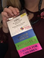 Ashley Meenen - Showing off her badge and ribbons