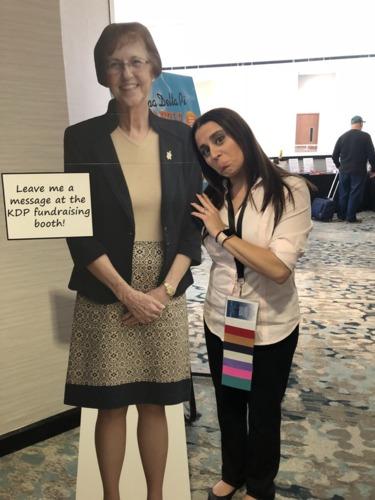 Leana Malinowsky - with Faye cutout